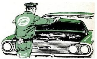 air check on the hood of a car