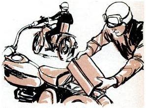 padded motorbike back rest