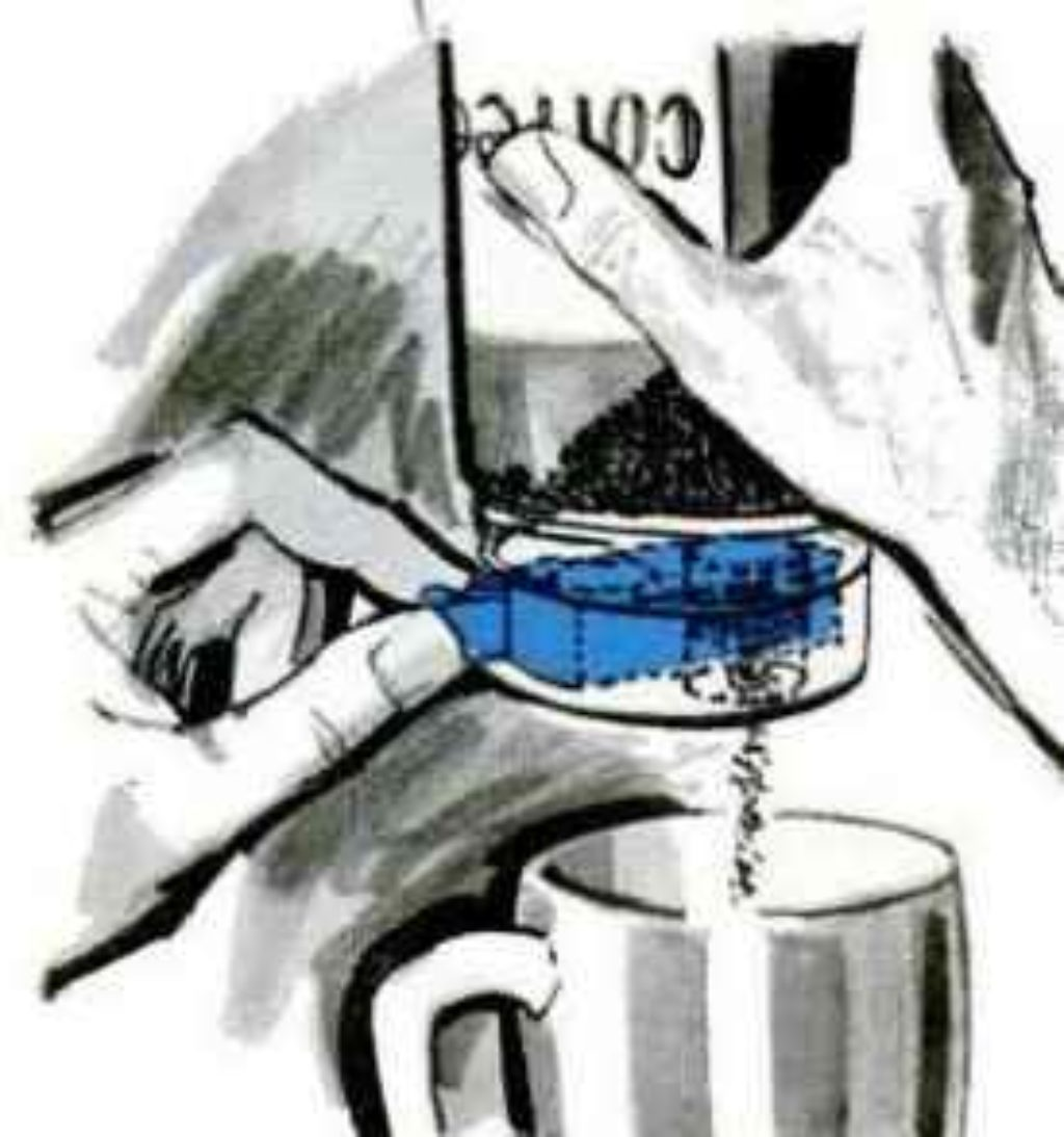 cap measures powdered coffee
