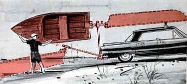 car hitch loads boat