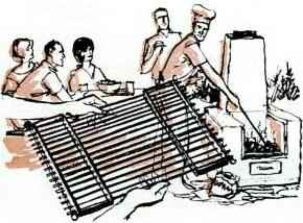 come-apart BBQ grill