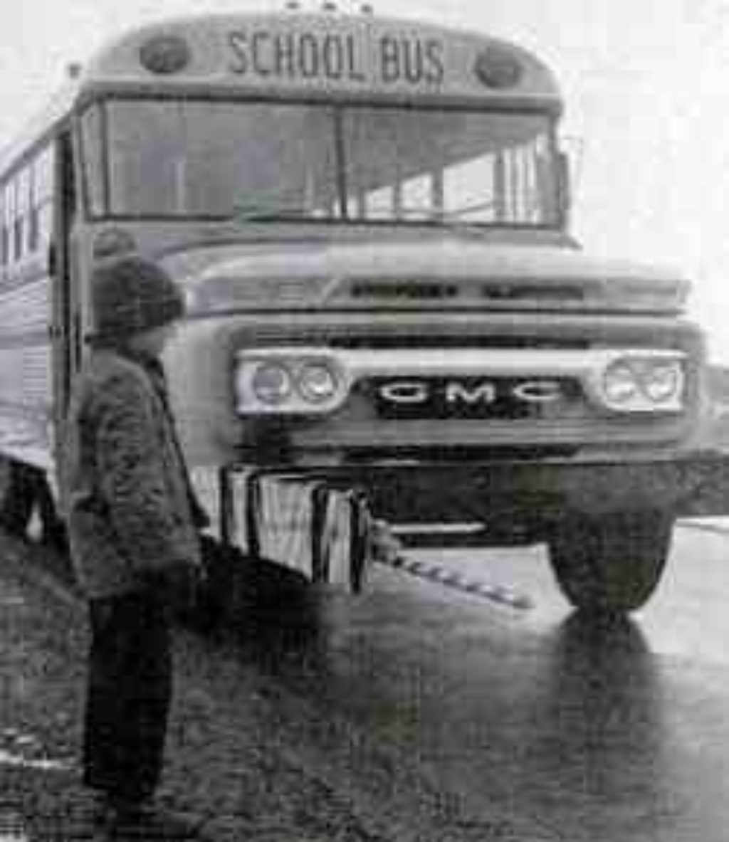 crossing gate on school bus