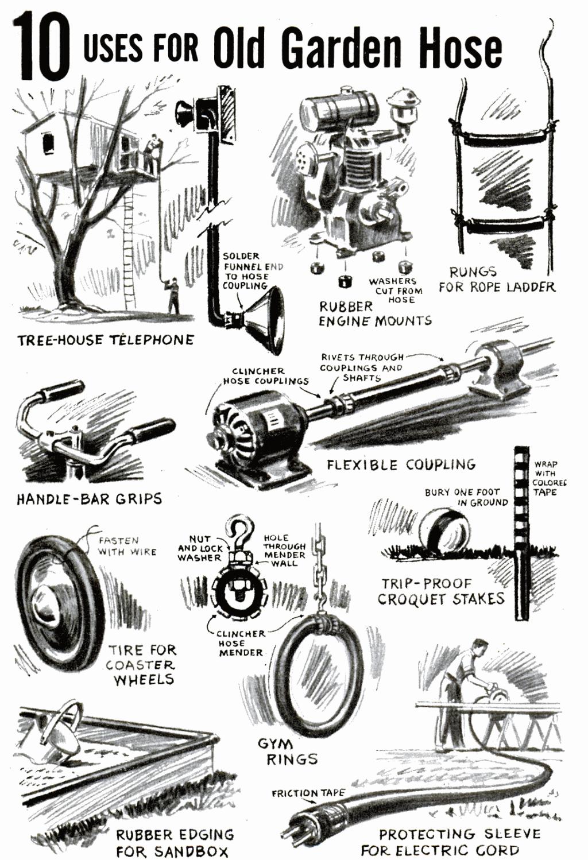 ten uses for an old garden hose