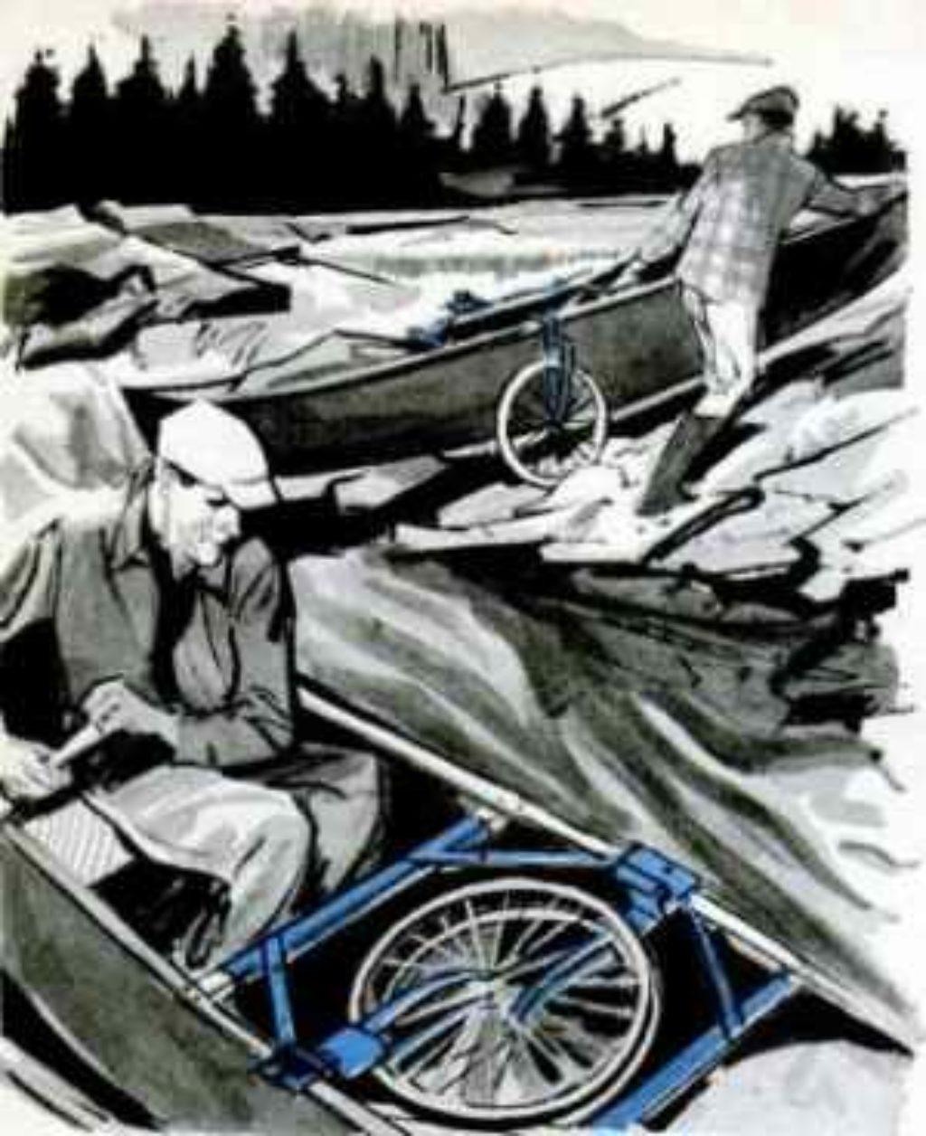 fold in wheels carry boat or canoe