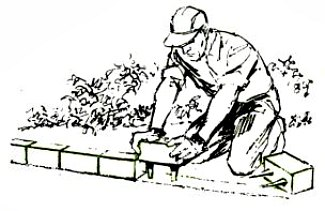 garden edging blocks