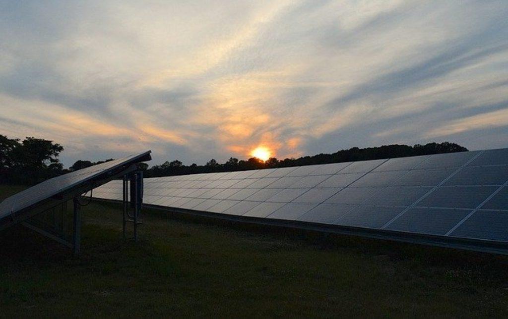 night time solar panels