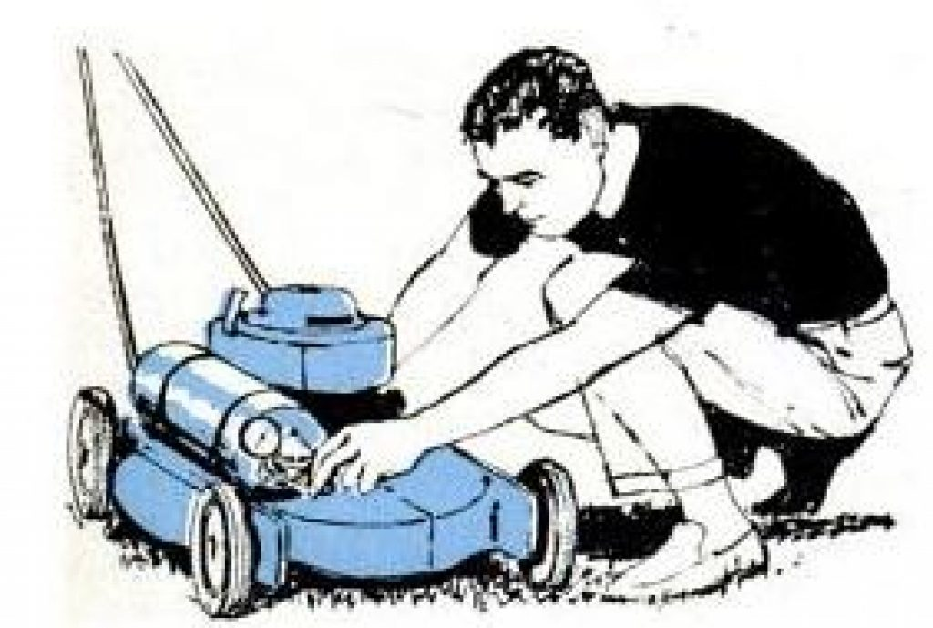 mower powered by bottled gas