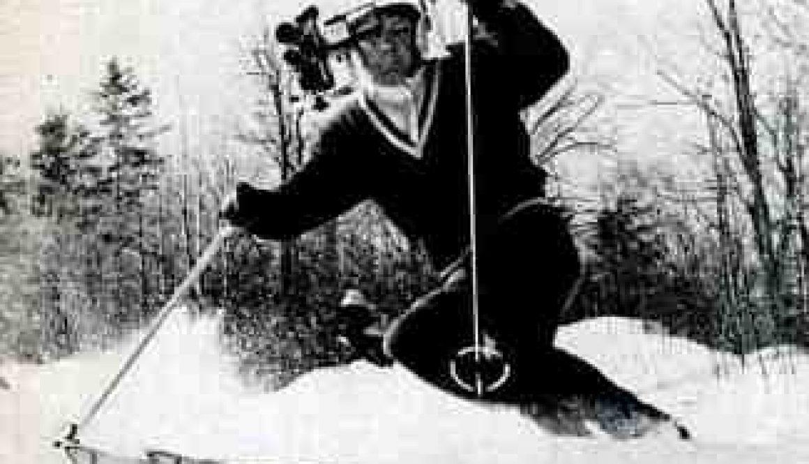 movie camera mounted on helmet