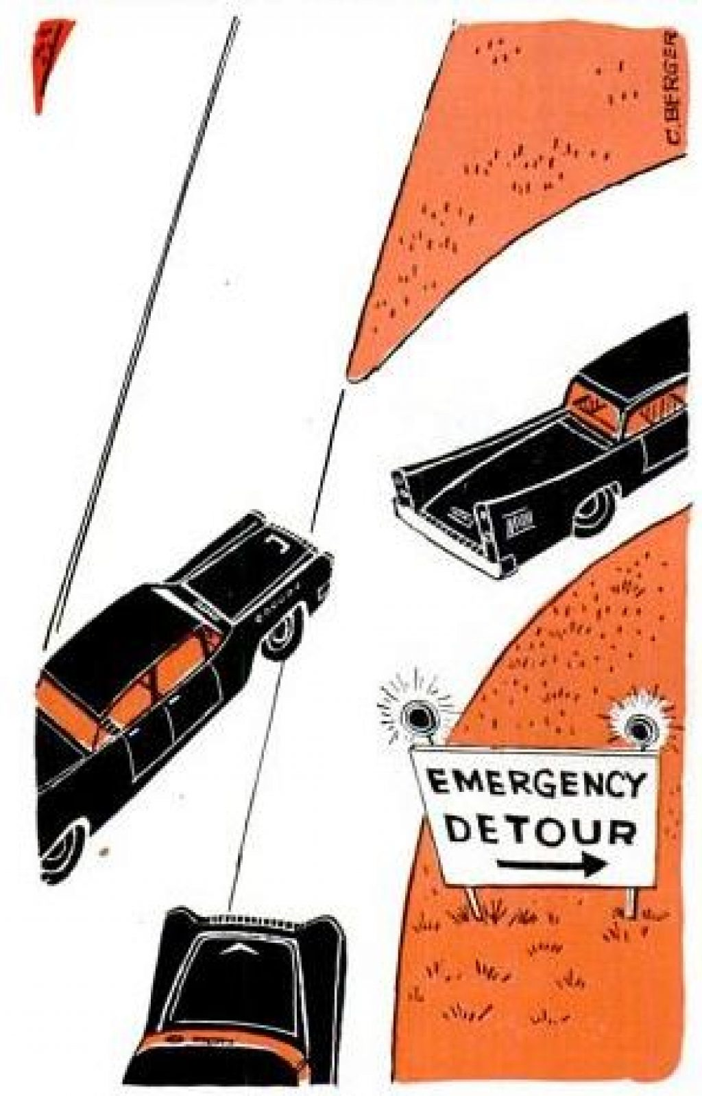 road block warning lights
