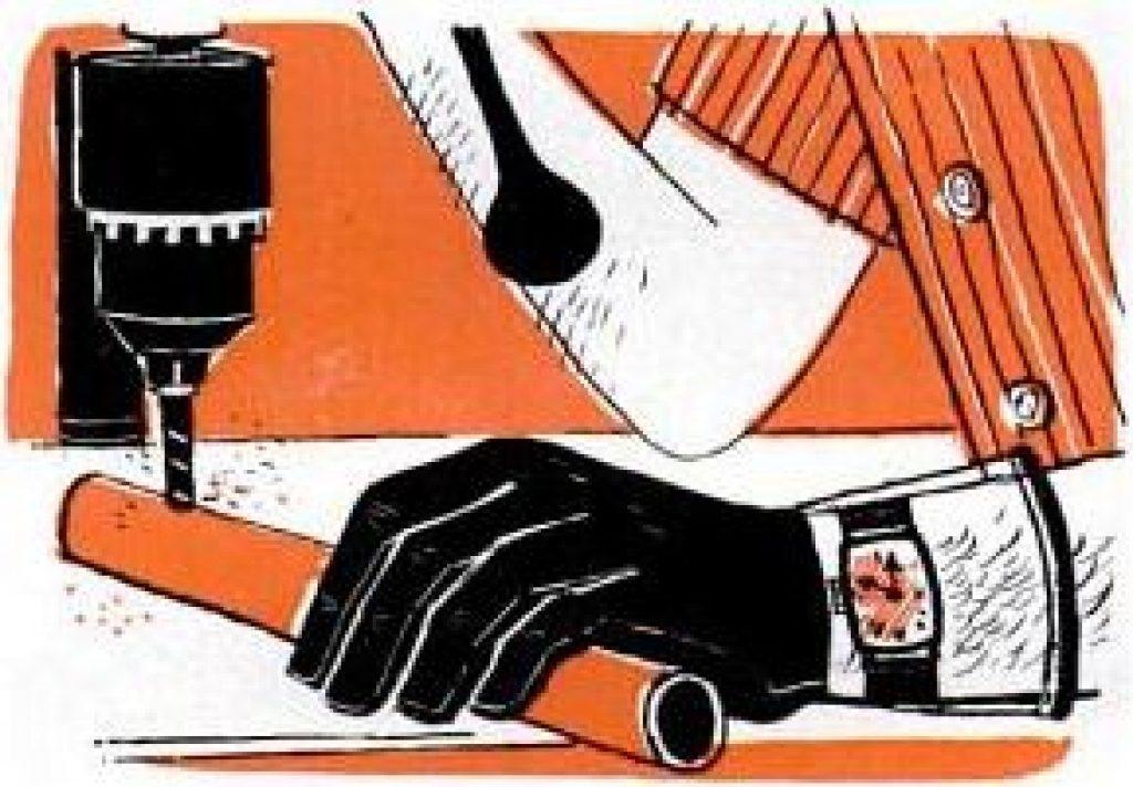 work gloves with transparent cuffs