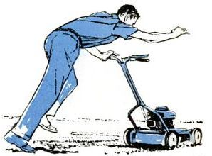 safe power mower