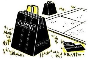 cement bags like shopping bags