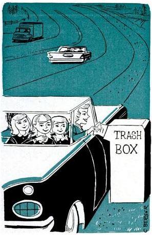curbside trash bin