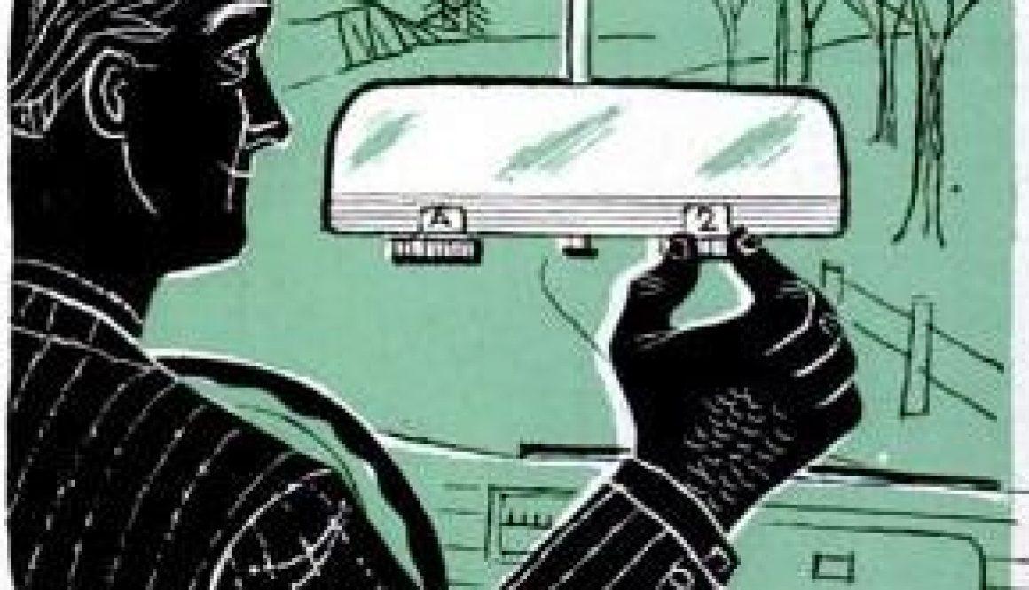 adjustable rear view mirror