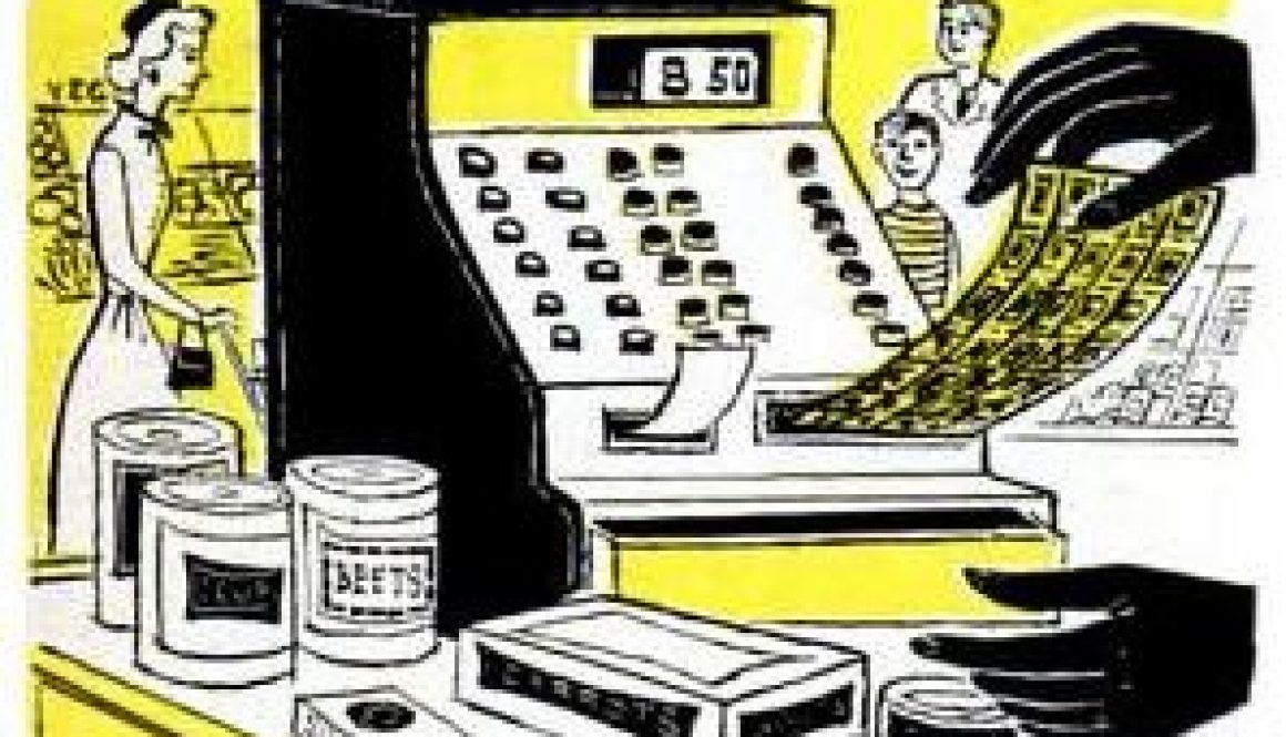 stamp dispensing cash register